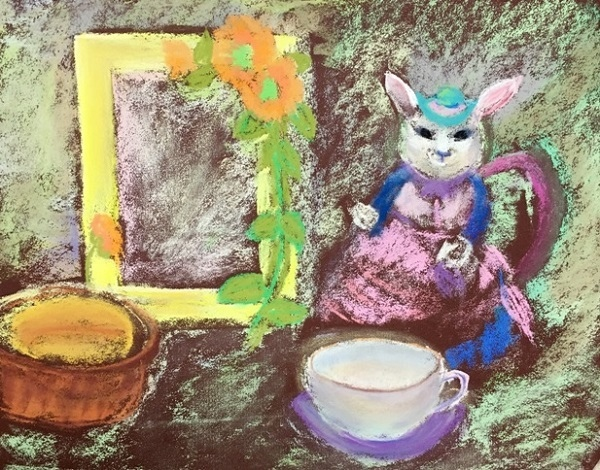 粉彩-情境小兔-6