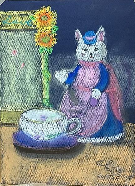 粉彩-情境小兔-7