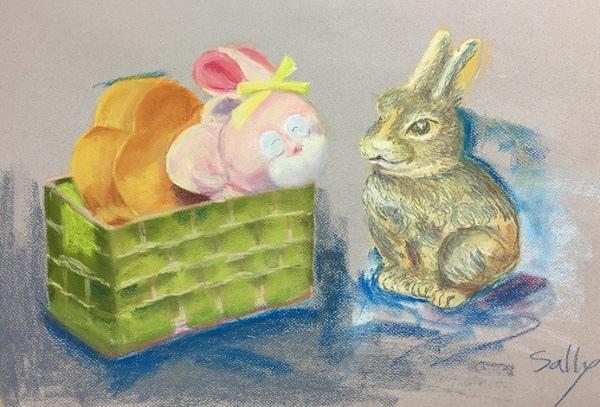 粉彩-情境小兔-8