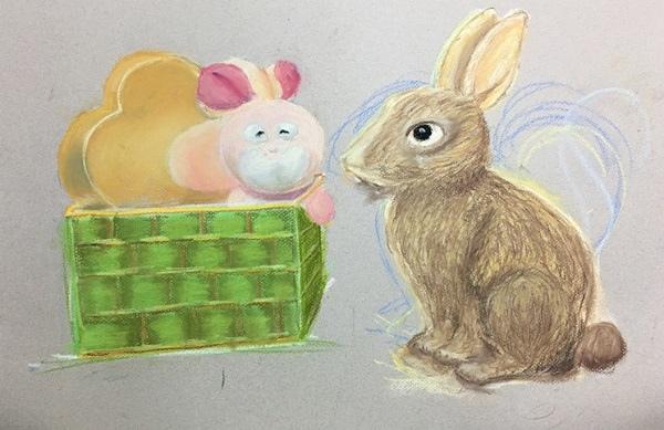 粉彩-情境小兔-9