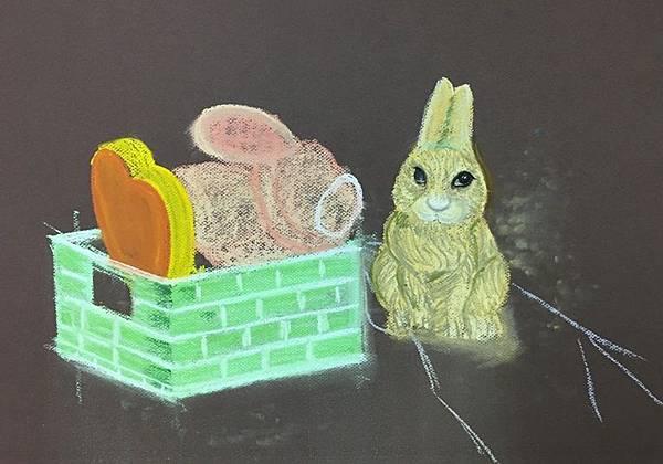 粉彩-情境小兔-11