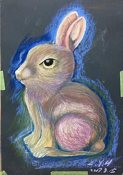 粉彩-情境小兔-12