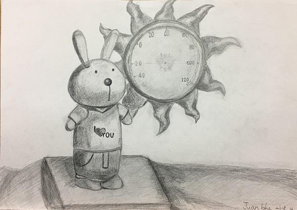 鉛筆素描教學~小小兵與帥帥兔-3