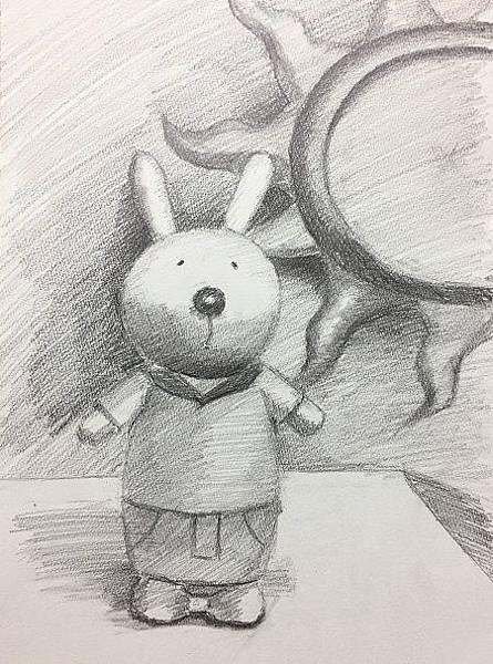 鉛筆素描教學~小小兵與帥帥兔-4