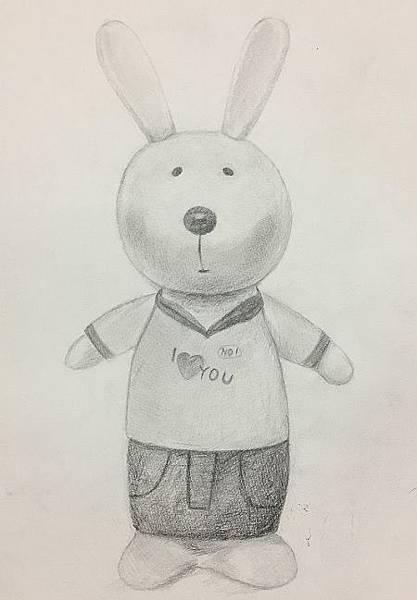 鉛筆素描教學~小小兵與帥帥兔-6