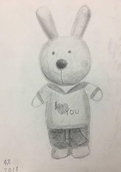 鉛筆素描教學~小小兵與帥帥兔-5