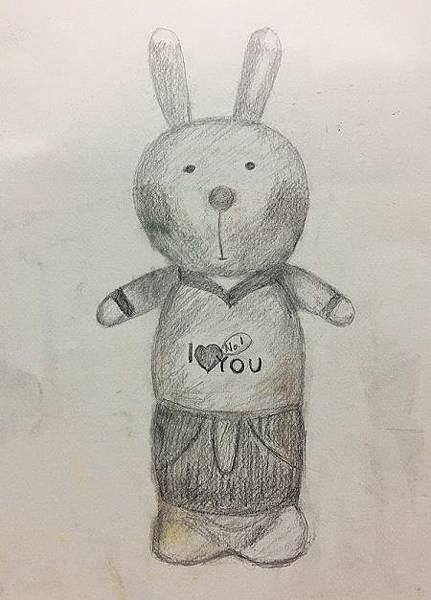鉛筆素描教學~小小兵與帥帥兔-7