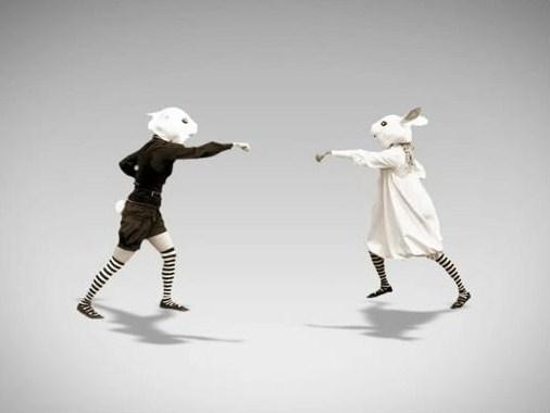 【もじうさ】うさぎがBad Apple!!踊ってたから撮ってみた