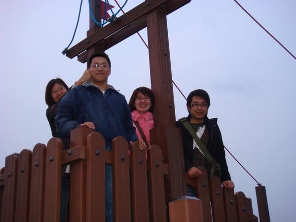 三芝吊橋‧我們在很像海賊王的船上唷