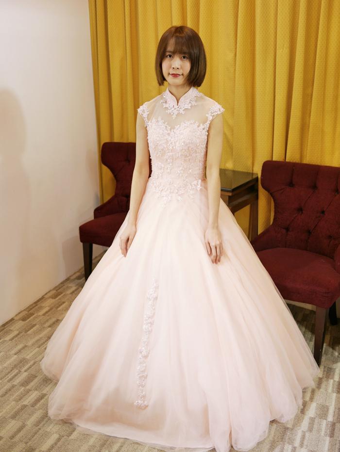 旗袍領婚紗