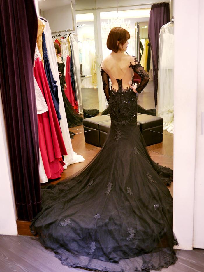 黑色婚紗推薦