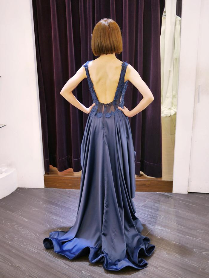 深藍色小禮服