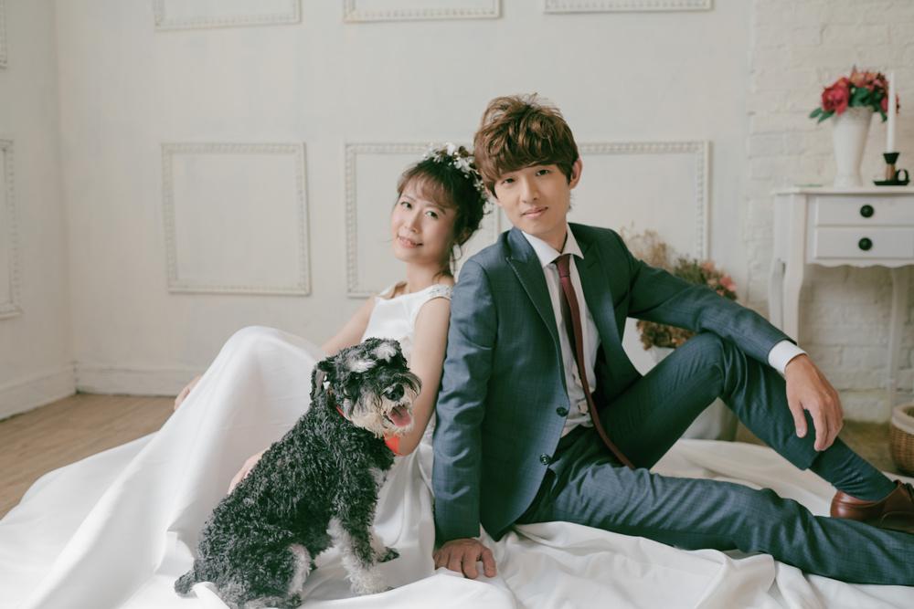 寵物婚紗x板橋婚紗攝影推薦 ♥列車自助婚紗工作室♥ 帶著寶貝毛孩一起拍婚紗照的經驗分享~