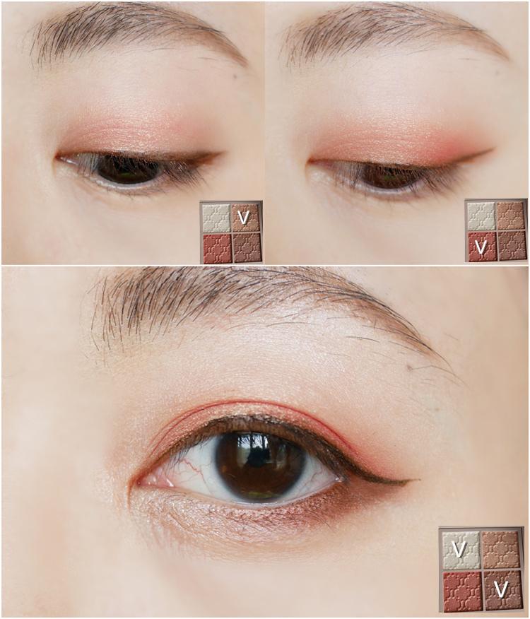 Visee眼影好用嗎?!Visee晶緞璃花眼影盒RD-6%2FGR-7試色分享~內有簡易眼影畫法,新手必看!!!