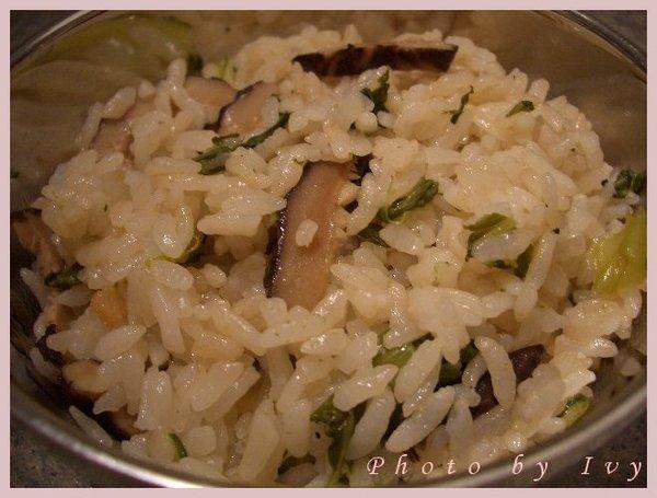 香菇菜飯1
