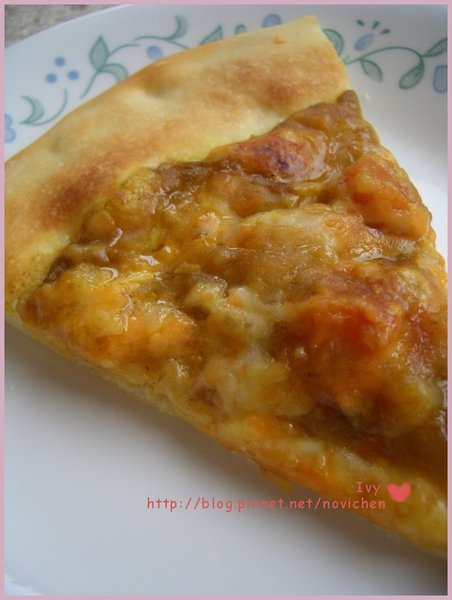 咖哩雞肉薄脆pizza 1