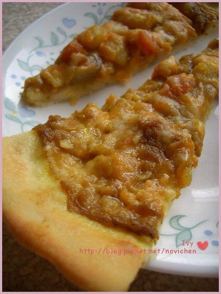 咖哩雞肉薄脆pizza 2