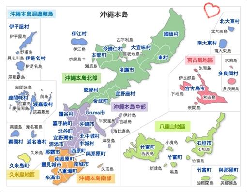 沖繩本島地圖