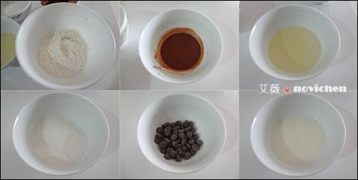 巧克力大理石戚風蛋糕圖解_1