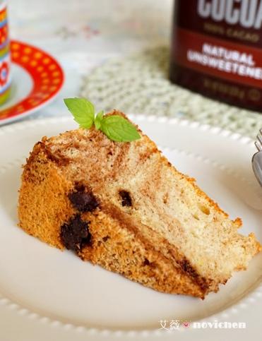 巧克力豆大理石戚風蛋糕