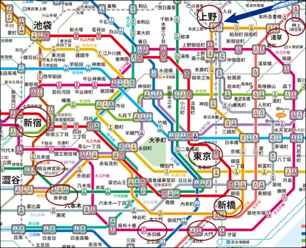 東京市區遊玩圖