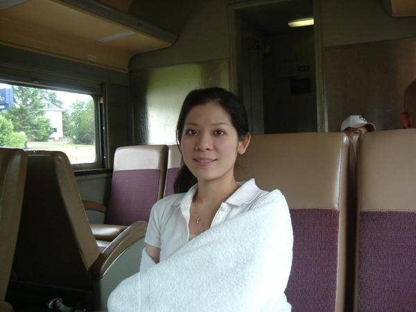 Duluth的觀光小火車裡