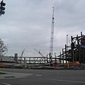 學校正在蓋的FOOTBALL球場