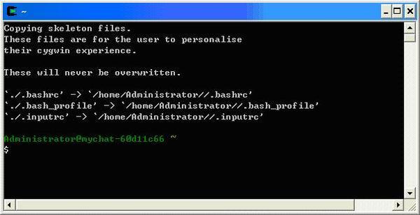第一次使用Cygwin 會出現的訊息