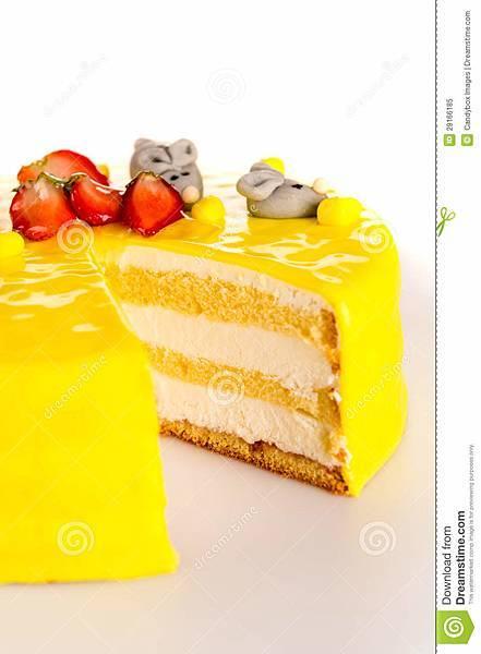 黄蛋糕柠檬点心小杏仁饼装饰-29166185.jpg