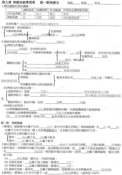 選修生物9-1~9-3  p.1