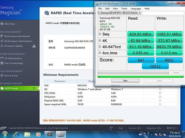 840e rapid as ssd 測試
