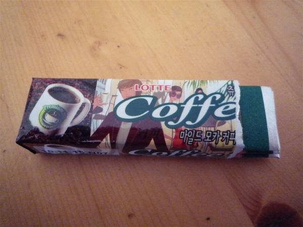 咖啡口味口香糖