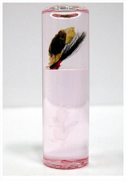 粉紅圓水金肚臍章0439