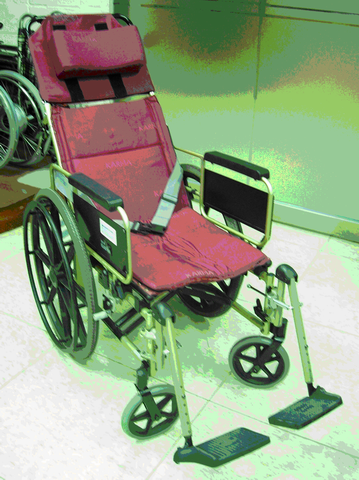 靠背可躺式輪椅(ㄧ)
