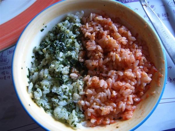 青醬與紅醬拌飯