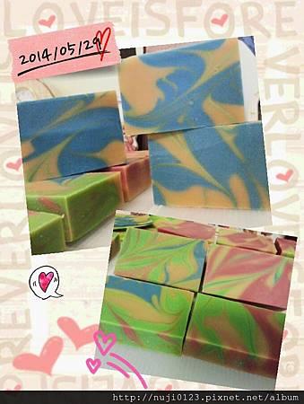 2014.05.29 薰衣草浸泡油做渲染皂2