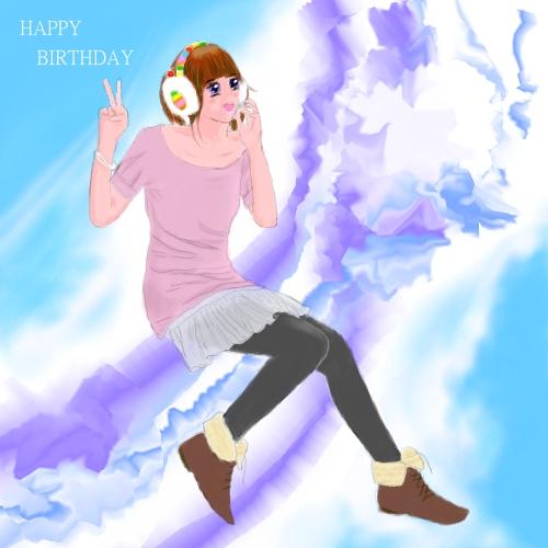 2011美娜送的生日賀圖