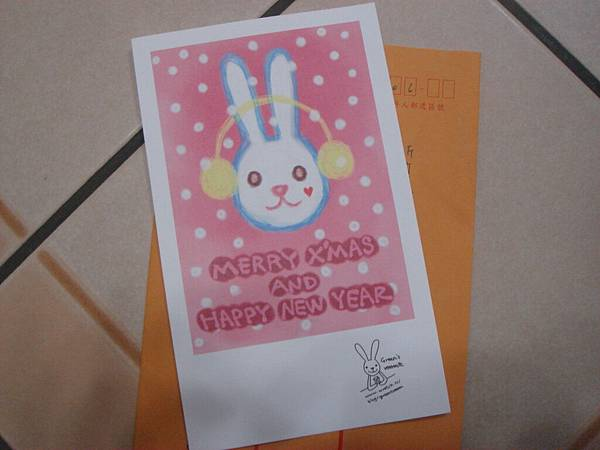 2011糖果送的聖誕卡片