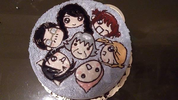 一家七口Q版蛋糕❤