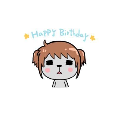 2014米卡送的生日賀圖