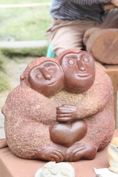怪客拍一對猴猴
