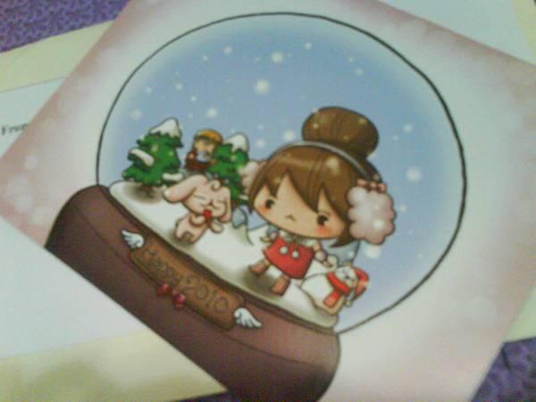 兔包送的聖誕卡