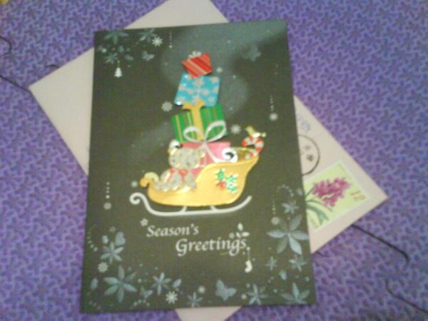 弦冷送的聖誕卡