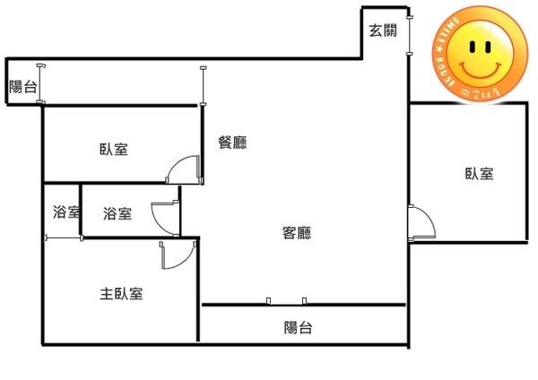 平鎮買屋。平鎮買房子。中央甲天下3房+車。728萬