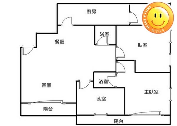 平鎮買屋。平鎮買房子。世紀三星景觀超大3房+車。998萬