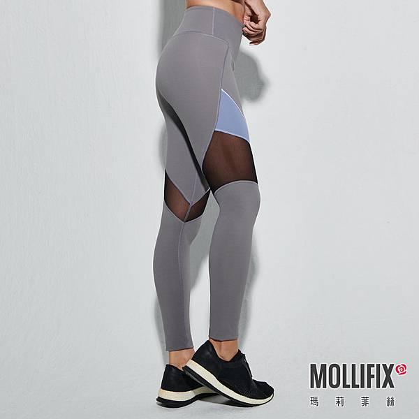 14-2 MOLLIFIX 瑪莉菲絲 透網撞色訓練動塑褲_(灰).jfif