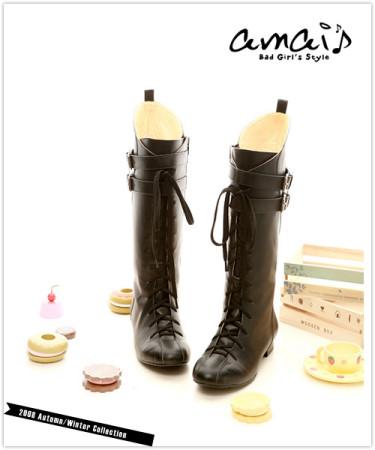 03.amai*黑色綁帶拳擊靴.jpg