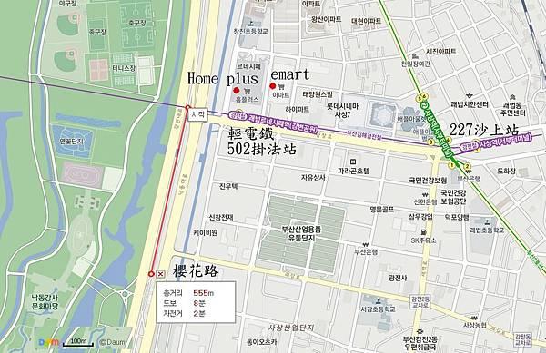三樂公園櫻花路map03