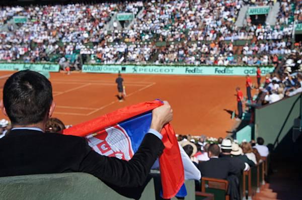 支持Djokovic的塞爾維亞人