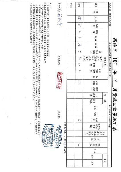 105-2月份資源回收報表